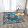 Product Image of Blue, Rust, Gold Bohemian Area Rug