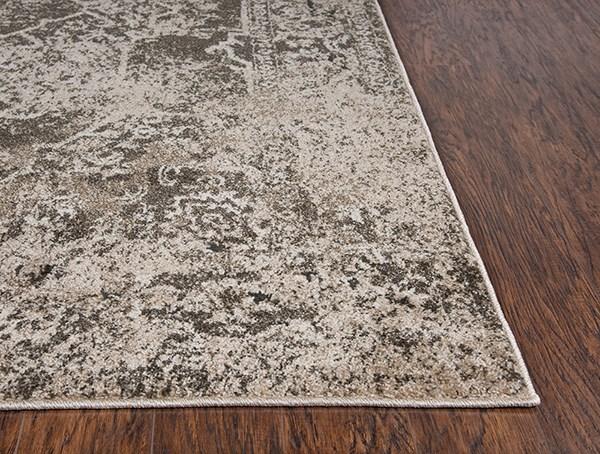 Brown, Beige, Ivory Vintage / Overdyed Area Rug
