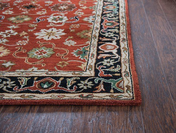 Red, Blue, Green Traditional / Oriental Area Rug