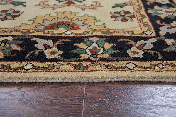 Beige, Red, Green Traditional / Oriental Area Rug