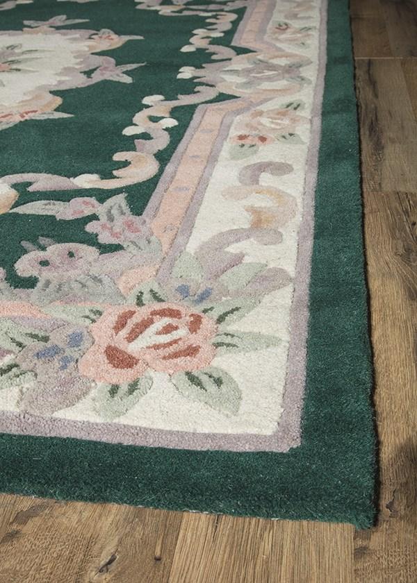 Emerald Traditional / Oriental Area Rug