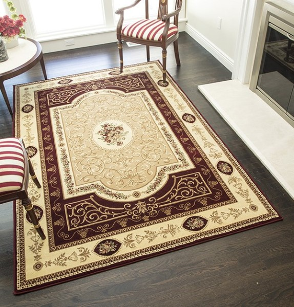 Cherry Traditional / Oriental Area Rug