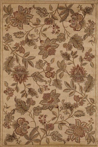 Cream Floral / Botanical Area Rug