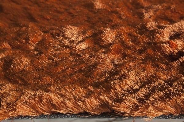 Burnt Orange Shag Area Rug
