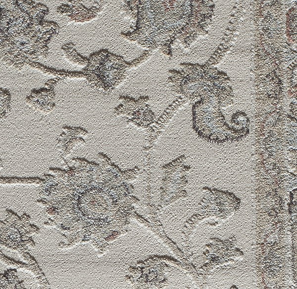 Cream (D) Traditional / Oriental Area Rug