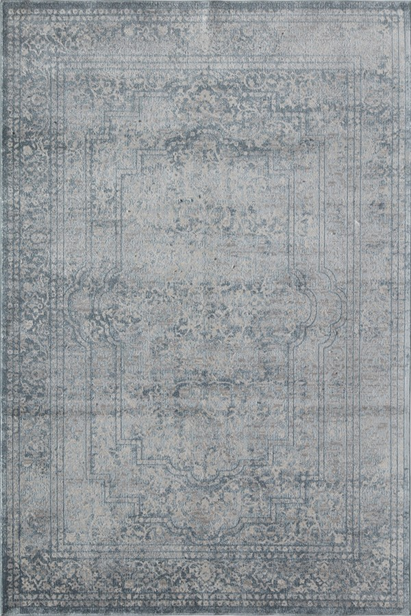 Shades of Blue Vintage / Overdyed Area Rug