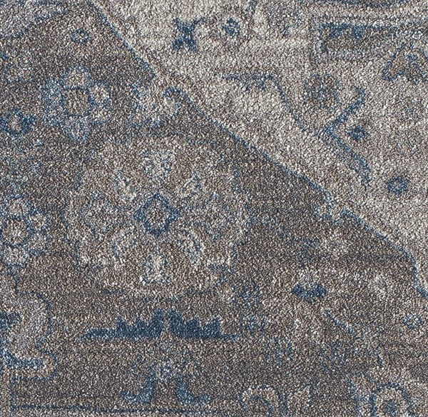 Blue, Gray (A) Traditional / Oriental Area Rug