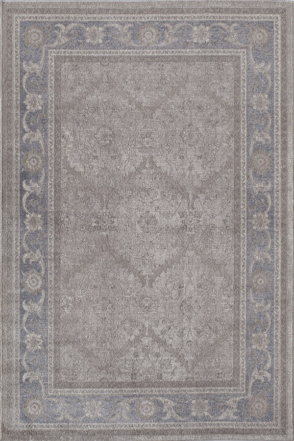 Ivory, Gray (B) Traditional / Oriental Area Rug