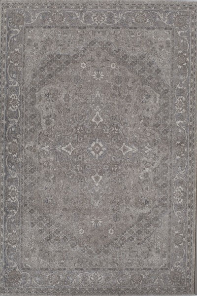 Gray, Ivory (A) Traditional / Oriental Area Rug