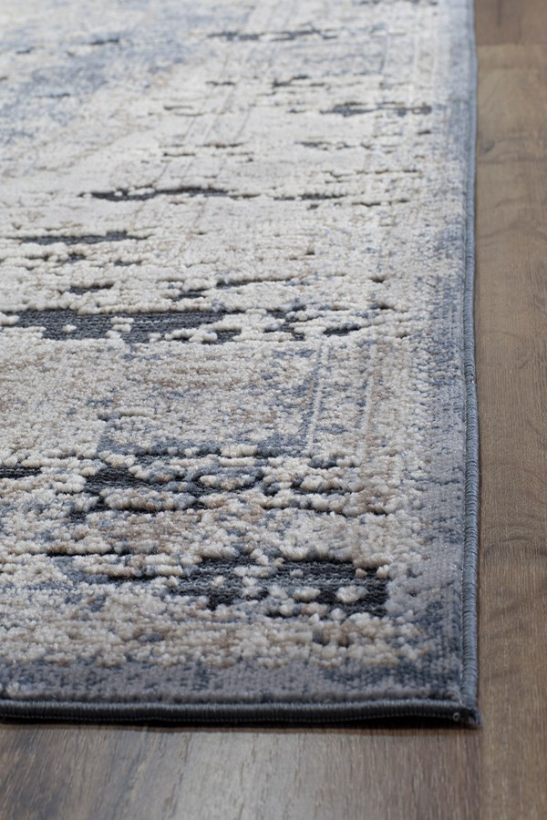 Blue, Tan (A) Vintage / Overdyed Area Rug