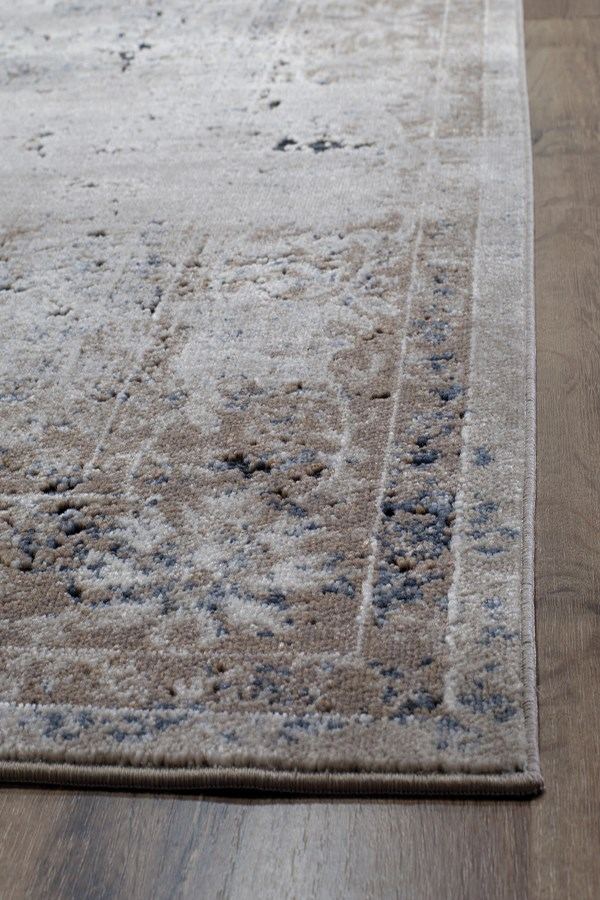 Tan, Navy (A) Vintage / Overdyed Area Rug