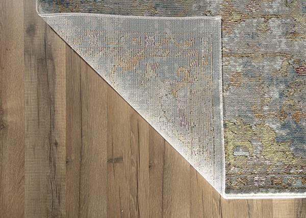 Grey, Blue (B) Traditional / Oriental Area Rug