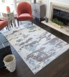 Product Image of Blue, Ivory (A) Contemporary / Modern Area Rug