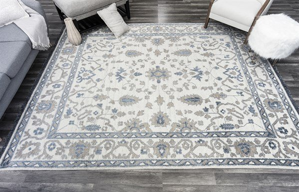 Blue, Gold, Ivory (A) Traditional / Oriental Area Rug