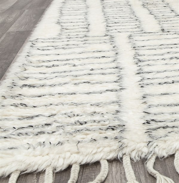 Ivory, Grey Bohemian Area Rug