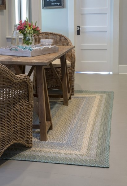 Blue, Green Country Area Rug
