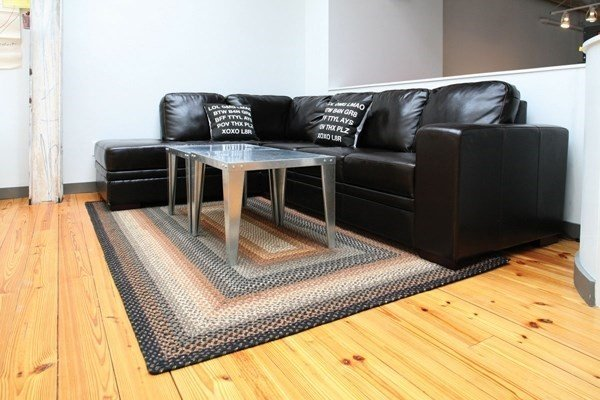 Brown, Black, Cream Country Area Rug