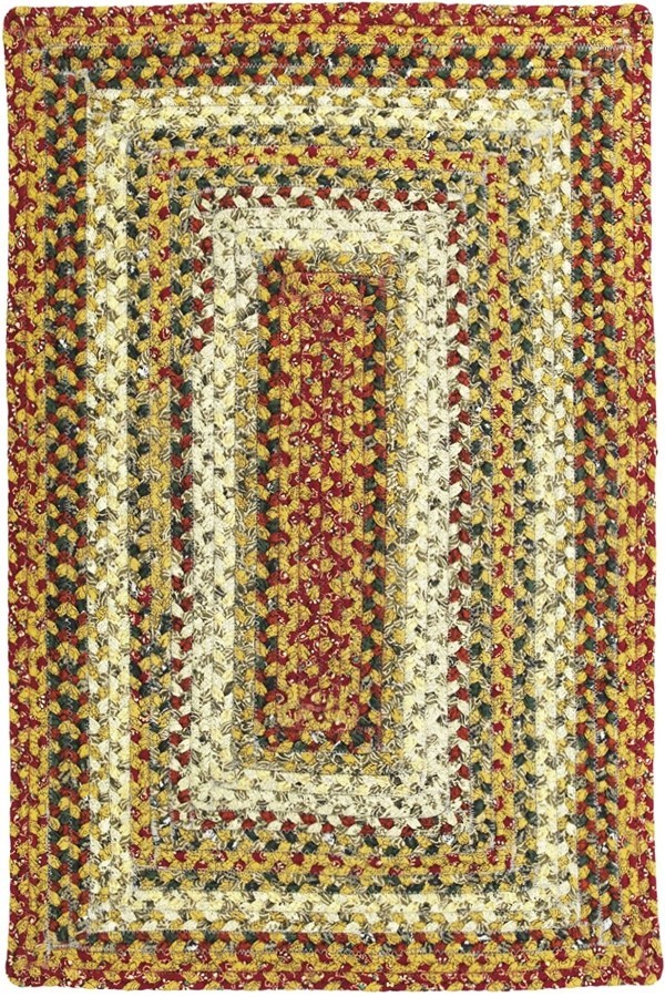 Mustard, Green, Rust Country Area Rug