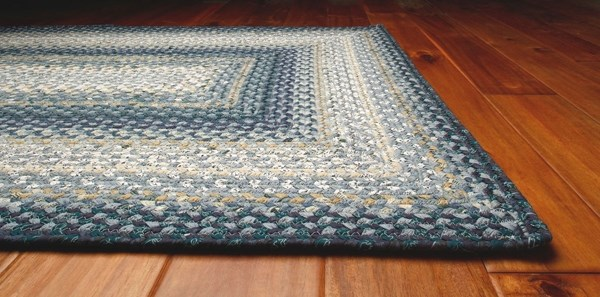 Blue, Tan, White Country Area Rug