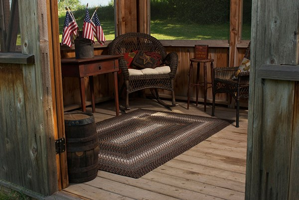 Black, Brown, Gray Outdoor / Indoor Area Rug