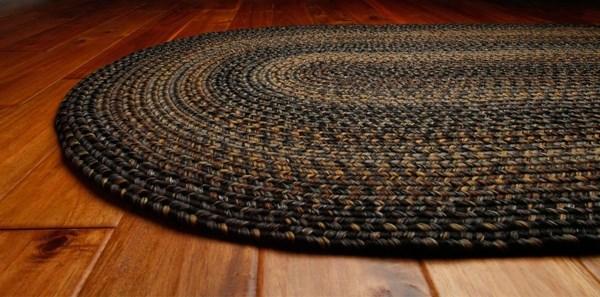 Black, Grey, Mustard Country Area Rug