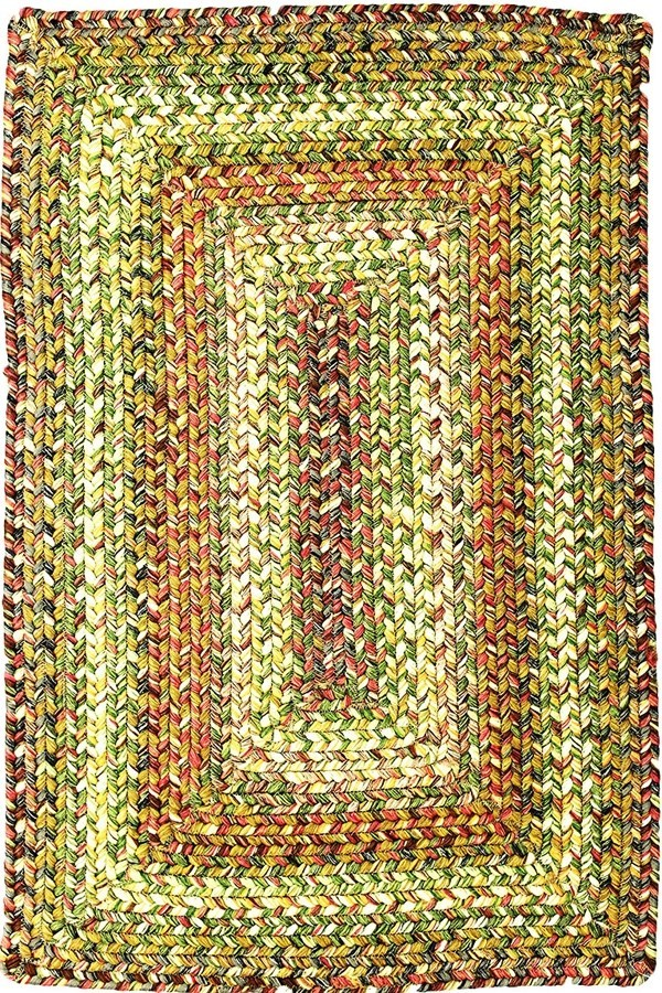 Green, Slate, Burgundy Outdoor / Indoor Area Rug