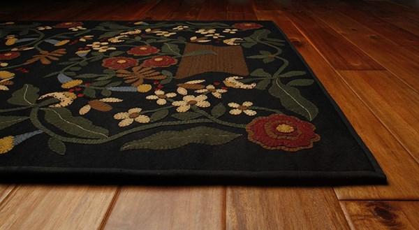 Garnet, Gold, Chocolate Floral / Botanical Area Rug