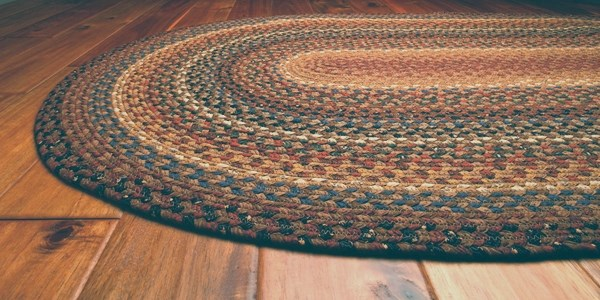 Rust, Brown Country Area Rug