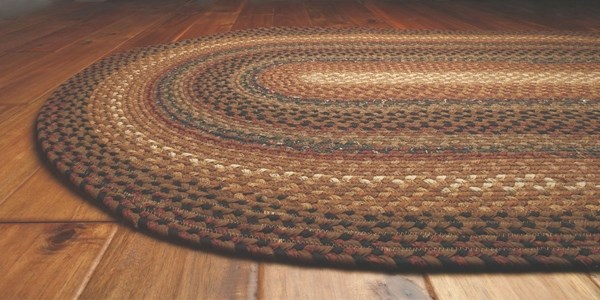 Red, Brown, Black Country Area Rug