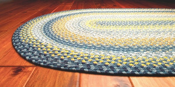 Yellow, Blue Country Area Rug
