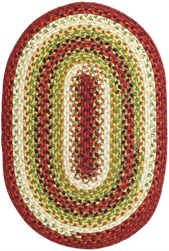 Cotton Braids - Oval Santa Fe Sunrise arearugs