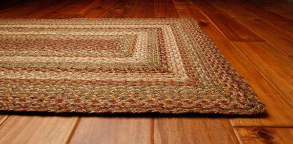 Wheat, Beige, Russet Country Area Rug