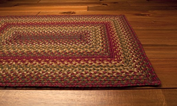 Red, Green, Tan Country Area Rug