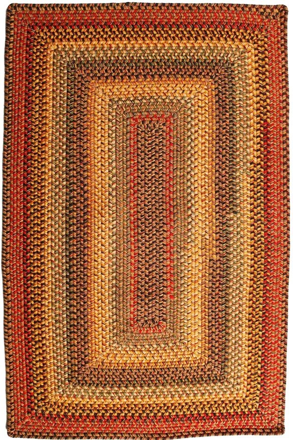 Budapest (Black, Red, Gold) Country Area Rug