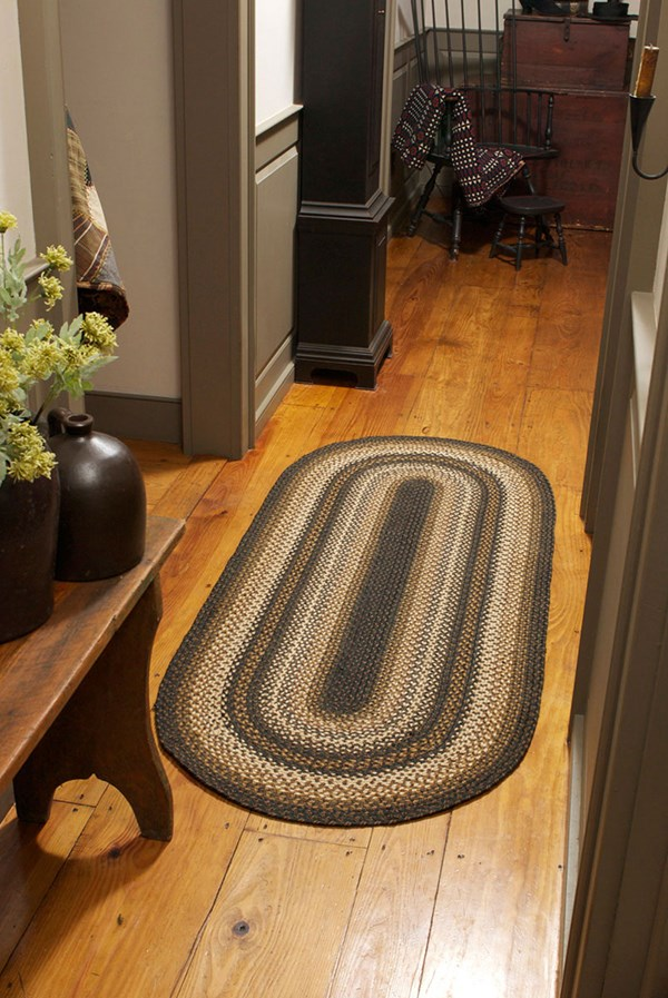 Brown, Cream, Tan Country Area Rug