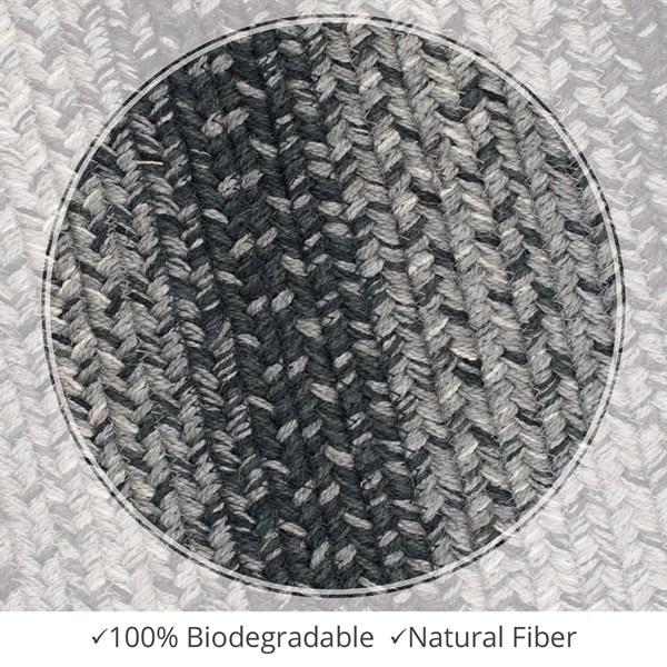 Grey Natural Fiber Area Rug