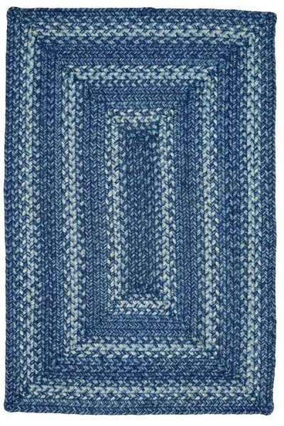Blue, Navy, White Country Area Rug