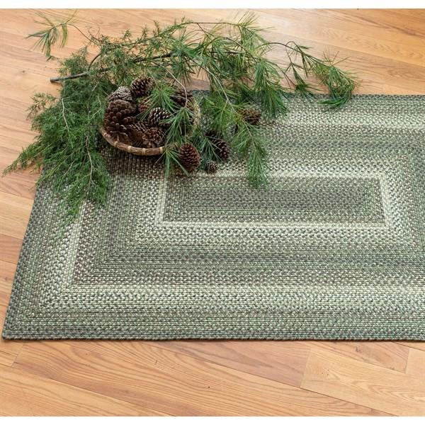 Green, Brown, Black Outdoor / Indoor Area Rug