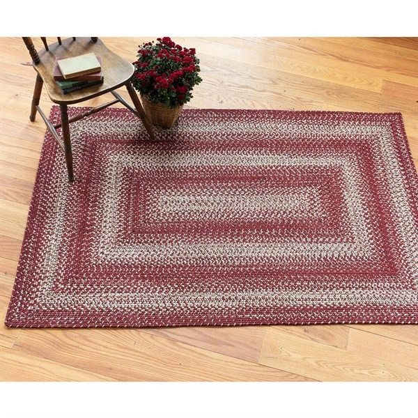 Ultra Durable Braided Barn Red Rugs