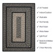 Product Image of Black Outdoor / Indoor Area Rug