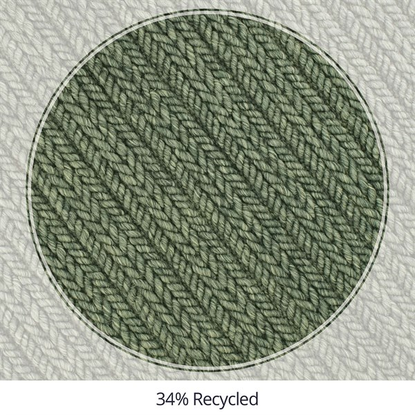Dark Green Outdoor / Indoor Area Rug