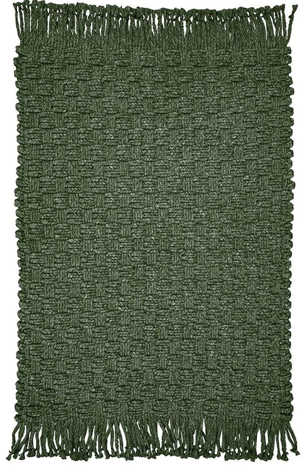 Dark Green Outdoor / Indoor Area Rug