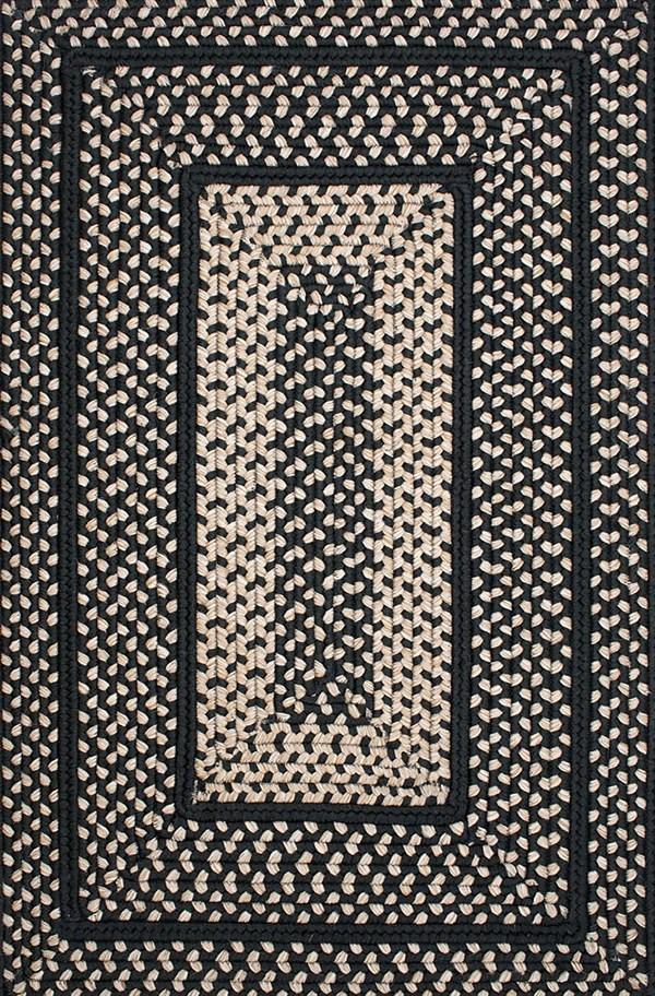 Black Outdoor / Indoor Area Rug