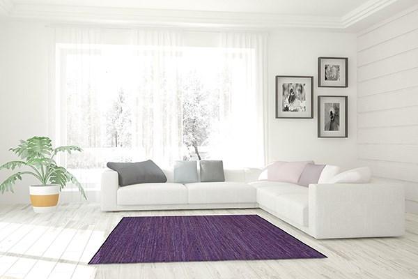 Purple Casual Area Rug