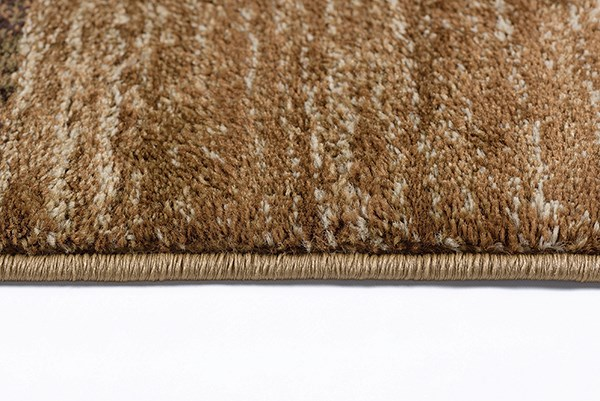 Beige, Red, Brown (ELG-5210) Contemporary / Modern Area Rug