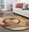 Product Image of Red, Ivory, Blue (ELG-5110) Contemporary / Modern Area Rug