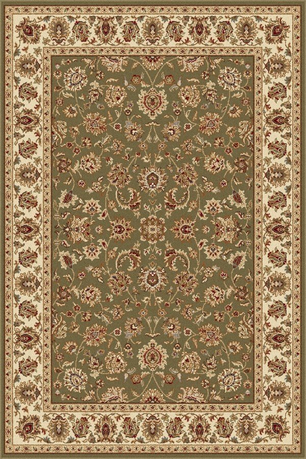 Green, Beige, Brown Traditional / Oriental Area Rug