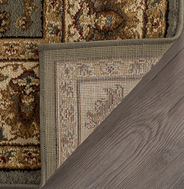 Green, Beige, Brown Traditional / Oriental Area Rug
