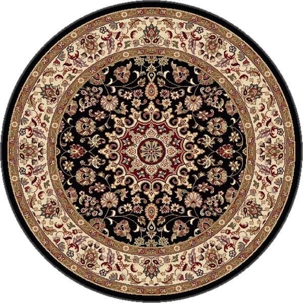Black, Red, Beige Traditional / Oriental Area Rug