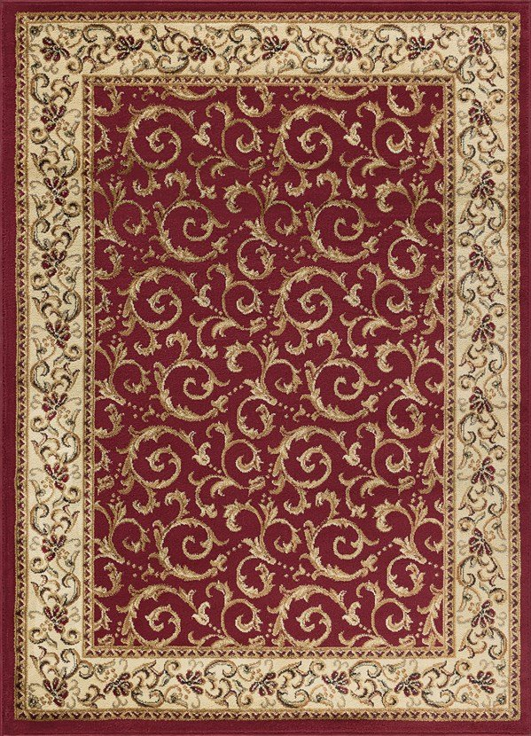 Red, Beige, Green Traditional / Oriental Area Rug